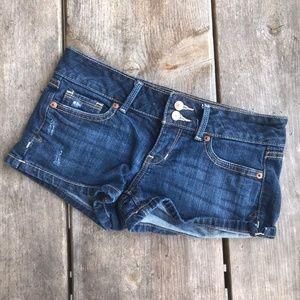 Aeropostale Blue Jean Shorty Shorts Dark Denim 0